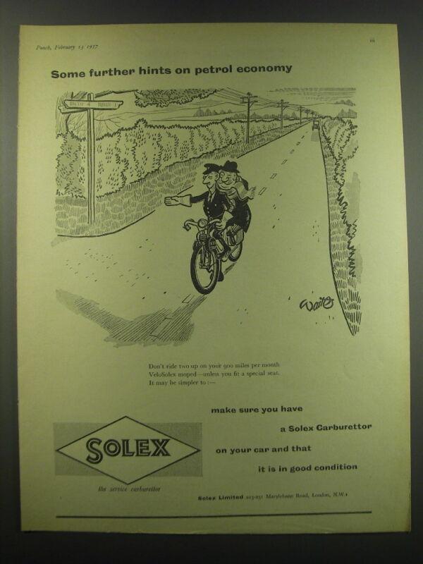 1957 Solex Carburettor Advertisement