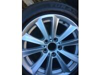 Genuine BMW 17inch X4 Alloy Wheels and BRIDGESTONE RUN FLAT TYRES