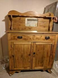 Antique vintage pine wood dresser