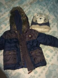 Coat and hat 3-6 months