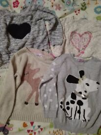Bundle of 4 girls jumpers age 4-5