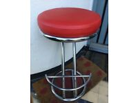 John Lewis real leather red bar stool