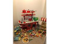 Children's Wooden kitchen and wooden shop