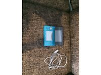 Blue Nintendo 3DS with charger