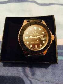 Rolexx yacht master rose gold black