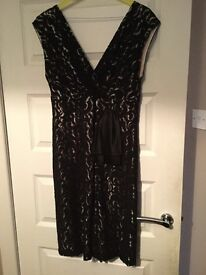 Beautiful black lace dress size 16