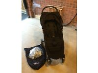 Baby Jogger City Mini 4 Wheel stroller/pushchair in all black with Extra's