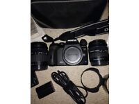 Olympus E-510 Digital SLR Camera 14-42mm Zuiko and 40-150mm Zuiko lens Bundle