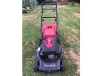 Mountfield lawn mower electric and pull start battery all charged ready to go starts first time