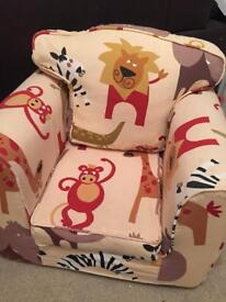 Childrens Armchair with removable Jungle Themed Cover
