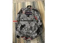 Black and white patterned Jansport bag