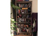 Ikea tall 6 shelf light brown bookshelf