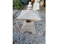Buddhist / Japanese Temple / Pagoda New Homemade Concrete Garden Statue
