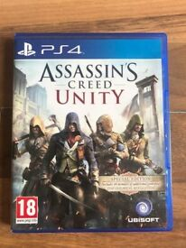 assassins creed unity (brand new & sealed) , ps4 ! price stands , no offers !