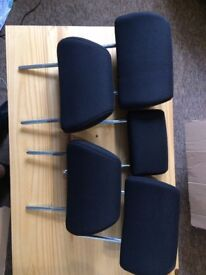 5 x FORD MONDEO MK3 FACELIFT FRONT & REAR SEAT HEADRESTS, LEFT, RIGHT, CENTER
