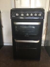 Hotpoint ultima gas cooker 50cm FSD double oven 3 months warranty free local delivery !!!!!!!
