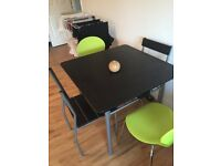 Table and 4 chairs for sale, mix match chairs