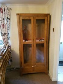 Brand New Oak Display Cabinet