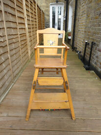 Vintage Highchair and Play table