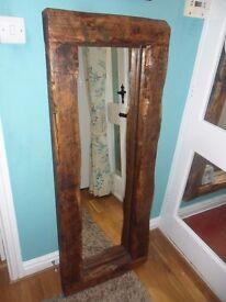 Beautiful rustic mirror.