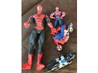 Vintage Spider-Man/batman job lot toys