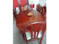 Dining room table seats 6 people