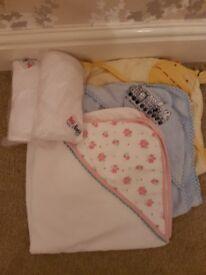 Baby bath towels 5 items