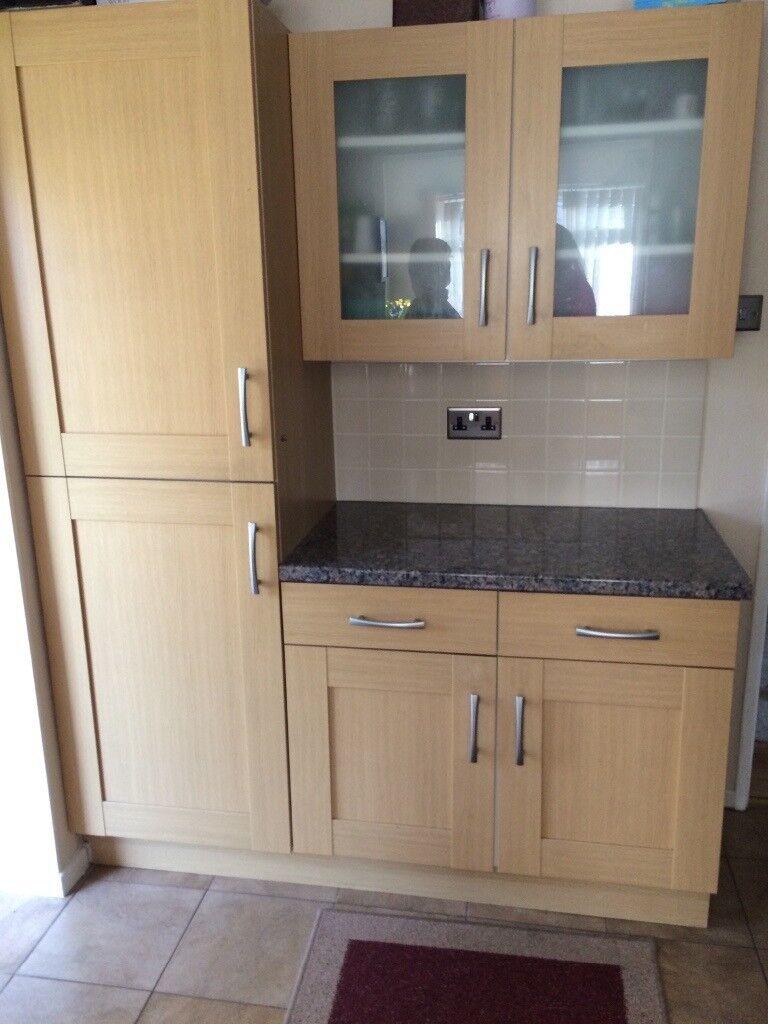 b q oak shaker kitchen style doors in ely cardiff gumtree