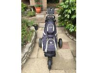 Ladies Golf Clubs, Motocaddy Bag, Collapsable Trolley