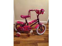 kids bike fairy purple and pink childs pedal bike