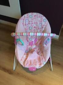 Pink chad valley bouncy chair