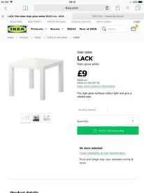 Ikea Lack Table (RED)