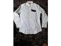 Dolce & Gabbana authentic used once shirt, size 17 slim fit plain white 98% cotton 2% elastane