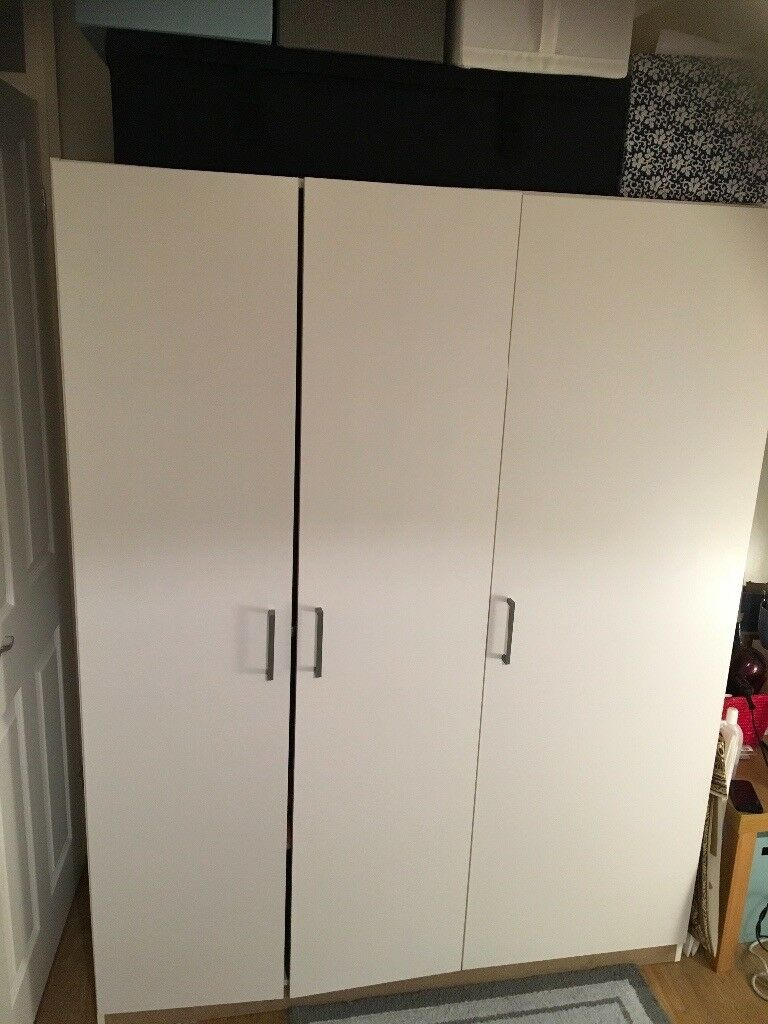 Ikea 3-door white wardrobe, very good condition, collection only | in  Guildford, Surrey | Gumtree