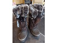 Brand New. Ladies Khombu chocolate brown Arctic snow boot. Size 3
