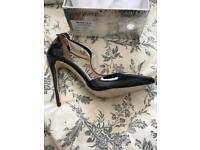 BNWT Black patent heels Size 6