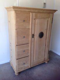 Antique Pine Larder / Kitchen Cupboard
