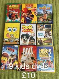 9 kids dvd movies.