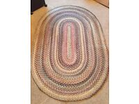 Large American style braided Oval rug - pure wool