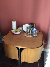 Ikea Fusion space-saving dining table and chairs