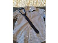 Boys shirt & tie set age 9 debenhams