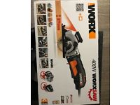 Worx 400w compact laser circular power saw WX426 brand new in box and plastic case