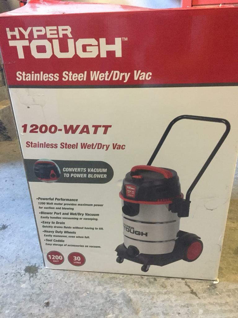 Brand New Hyper Tough Stainless Steel Wet Dry Vac In
