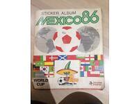 Mexico 1986 panini sticker album