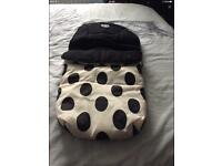 Baby style Oyster Dalmatian Vogue Footmuff