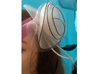 Lovely Emily May Cream & Black Fascinator New With Tags