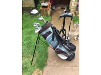 Golf club set with bag and trolley