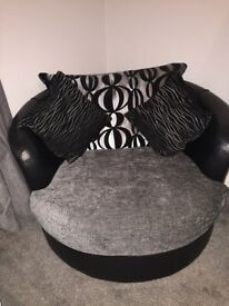 Black/grey swivel chair DFS