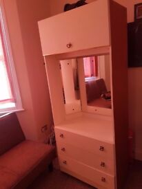 Chest drawer and dressing mirror