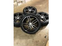 """Brand new set of 18"""" alloy wheels and tyres Mercedes"""